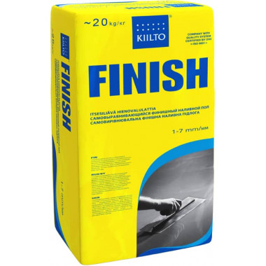 Kiilto «FINISH» Самовыравнивающийся раствор 1-7мм (20 кг)