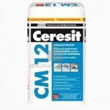 Клей CERESIT СМ 12/25 (25кг) для керамогранита и плит крупного формата 48шт/под - купить оптом, в розницу