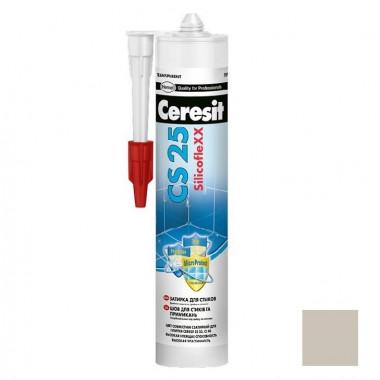 Затирка-герметик силиконовая Ceresit CS 25 серая 0,28 л - купить оптом, в розницу