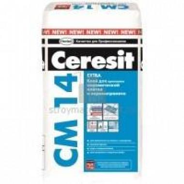 Клей CERESIT СМ Extra 14/25 (25кг) для плитки купить оптом, в розницу