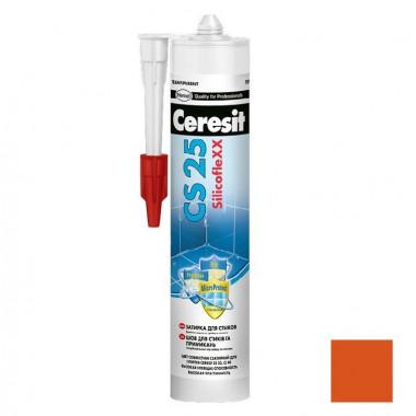 Затирка-герметик силиконовая Ceresit CS 25 Кирпичная 0,28 л - купить оптом, в розницу