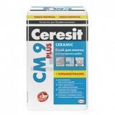 Клей CERESIT СМ 9/25 Plus (25кг) для плитки для внутренних работ 48шт/под  Россия - купить оптом, в розницу