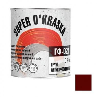 Грунтовка Super O'Kraska ГФ-021 красно-коричневая 0,9 кг - купить оптом, в розницу