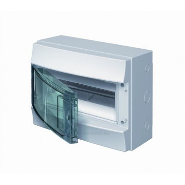 Бокс настенный Mistral41 12М зеленая прозрачная дверь (с клемм) 1SPE007717F0421