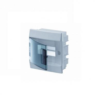 Бокс в нишу Mistral41 8М зеленая прозрачная дверь (c клемм)