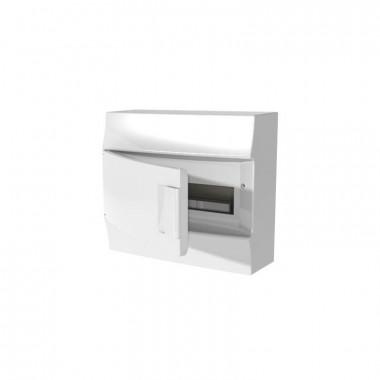 Бокс настенный Mistral41 8М непрозрачная дверь (с клемм) белый