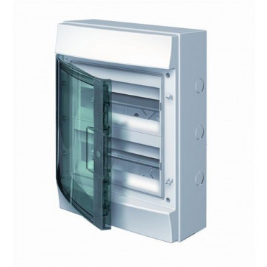 Бокс настенный Mistral41 18М зеленая прозрачная дверь (с клемм) 1SPE007717F0821