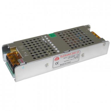 Блоки питания 12 Вольт 200W (негерм.-узкий)IP33185*65*37мм
