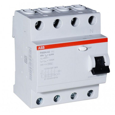 Выкл.диф.тока 4мод. F204 АС-25/0,3