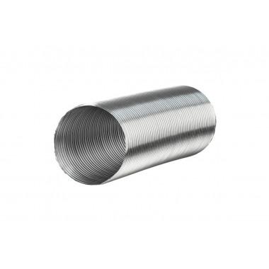 Воздуховод гофрированный из алюминиевой фольги с покрытием, L до 3м 150мм белый