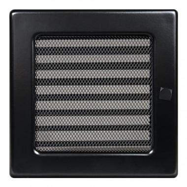 Вент. решетка 170х170 мм с жалюзи белый,кремовый, графит, нержавейка, черный