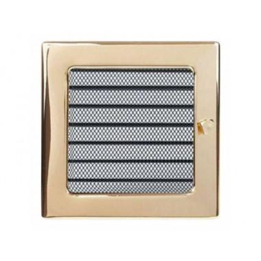 Вент. решетка 170х170 мм с жалюзи золото, никель,рэтро